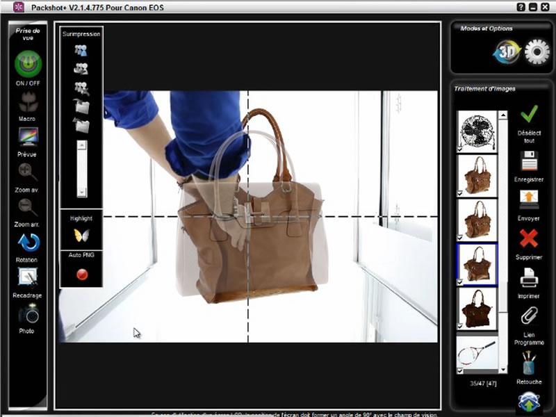 logiciel packshot studio