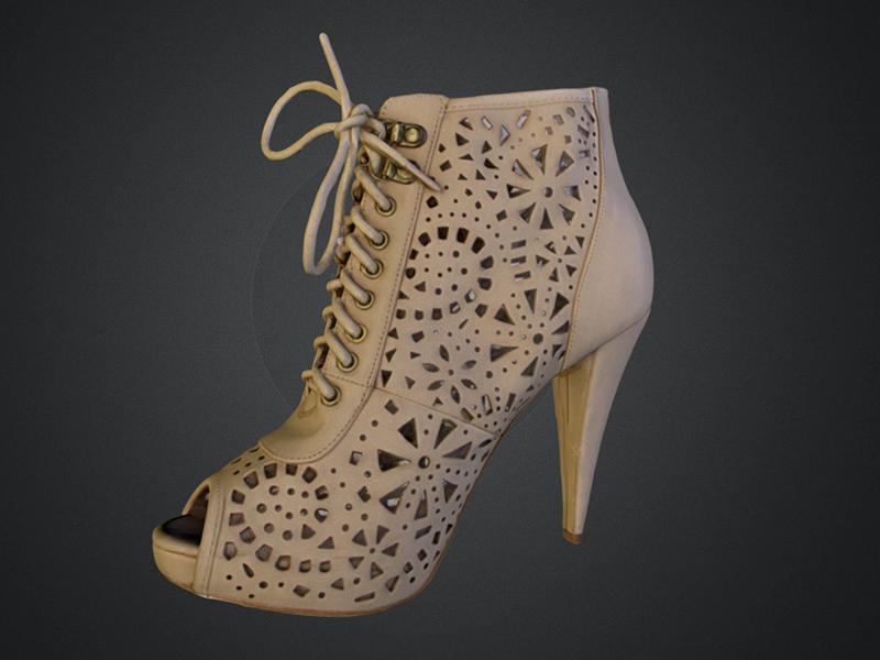 Modèle chaussure femme 3D