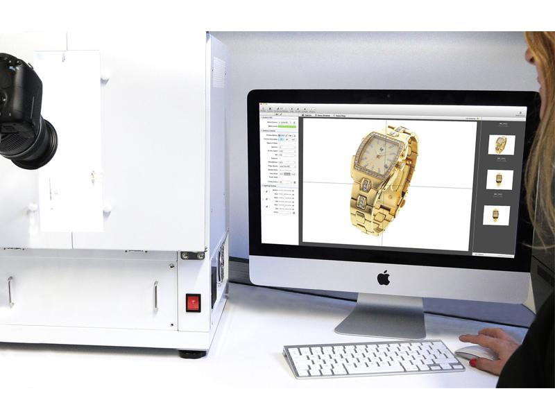 Photographie en interne avec logiciel PackshotCreator série Mac
