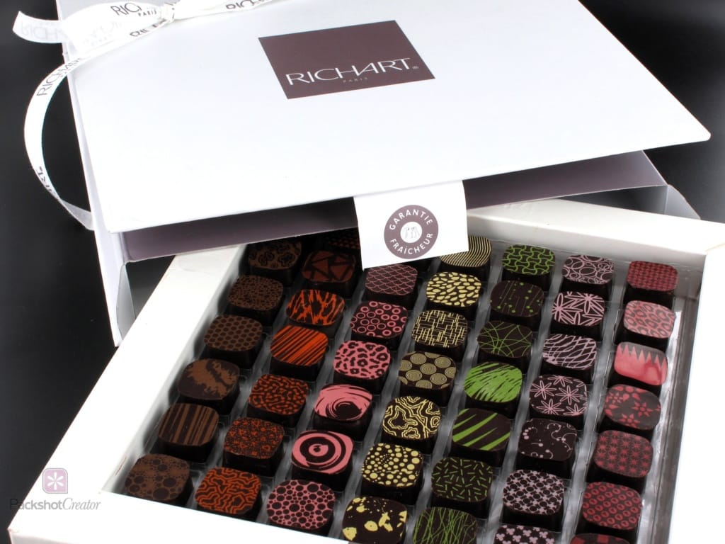 how to photograph a box of chocolate for ecommerce