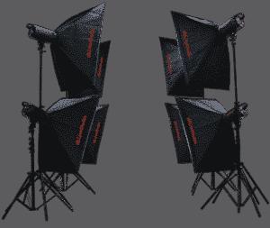 kit d'éclairage LED avec logiciel pour studio photo e-commerce