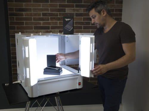 studio de photo automatisé pour la photographie de produit