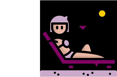 icone d'une femme en bikini sur la plage