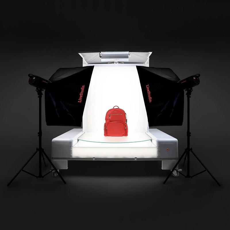 PackshotPro 360 combiné au système LED LiveStudio