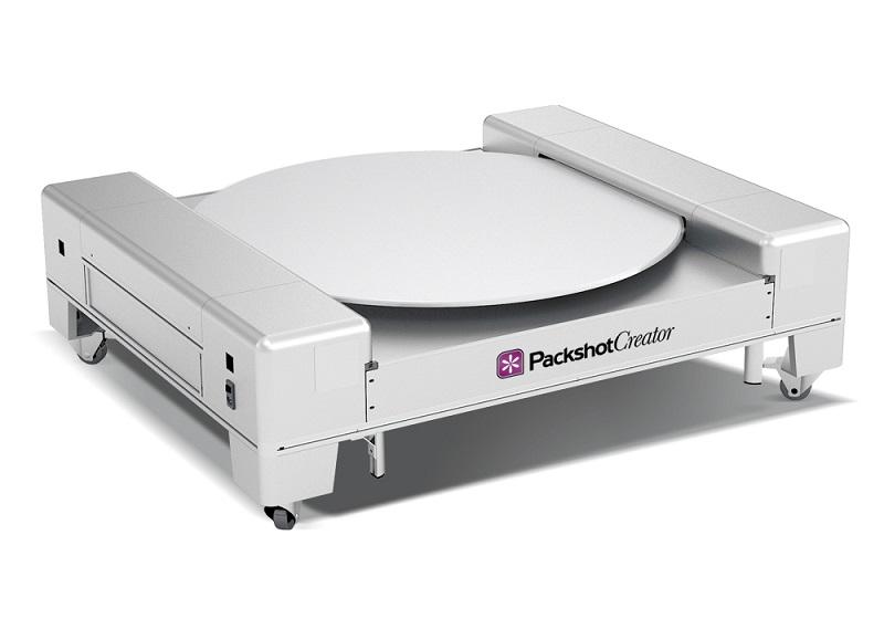 PackshotPro 360 studio photo automatisé pour photographie et animations de bagagerie-maroquinerie