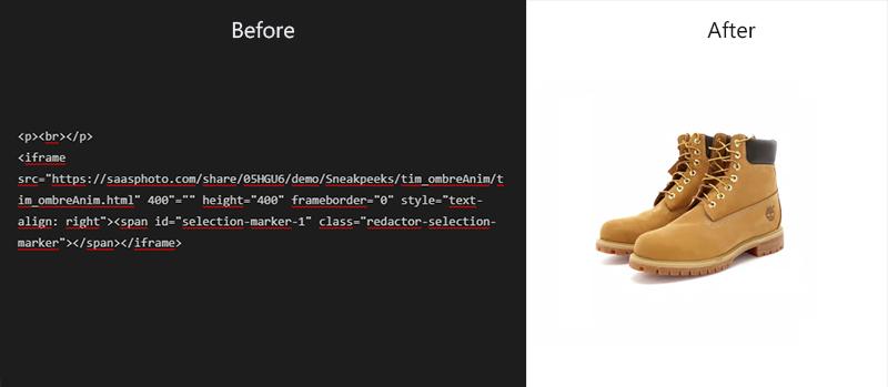 animation de produits à 360° au format HTML5