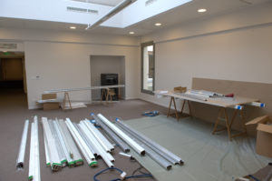 showroom Paris en construction
