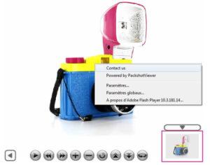 menu flash packshotviewer