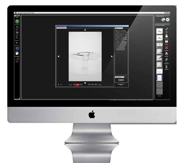 créer des photos de lunettes en interne avec Packshot creator