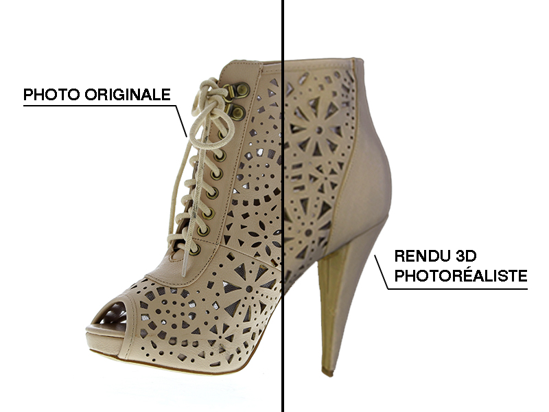 Modèle 3D chaussure