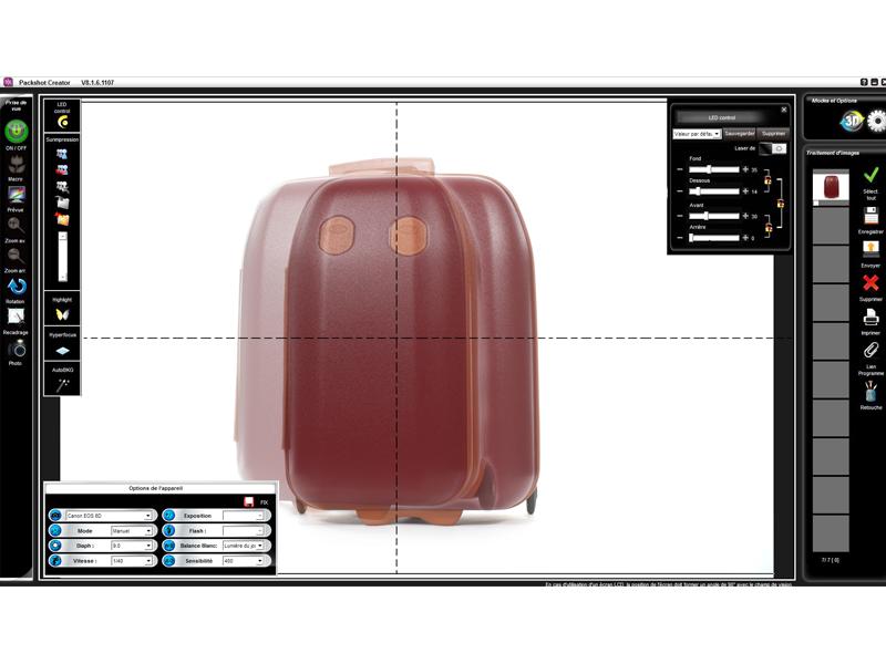 fonction logiciel packshot photo