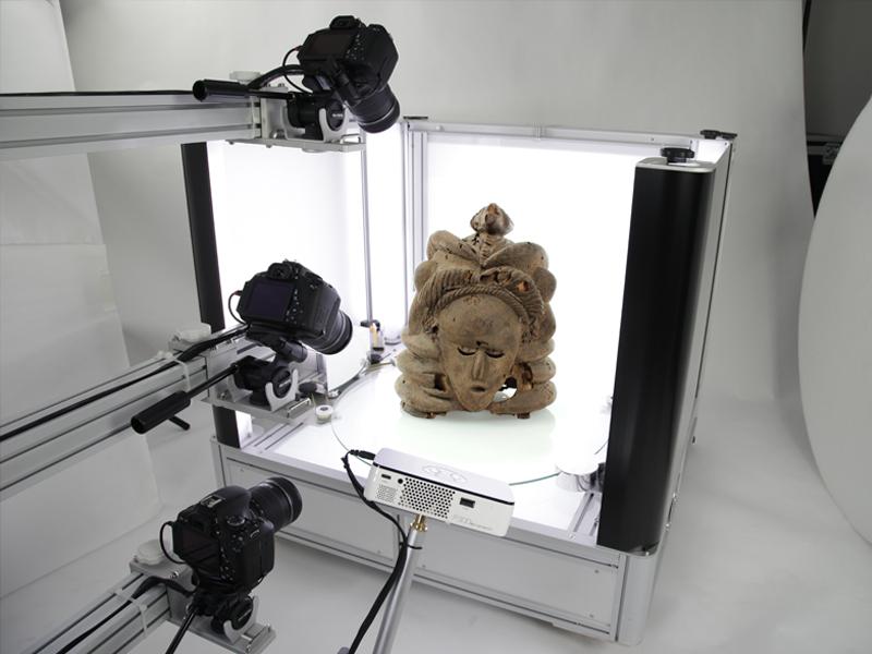 Modéliser une oeuvre d'art en 3D avec Packshot Creator