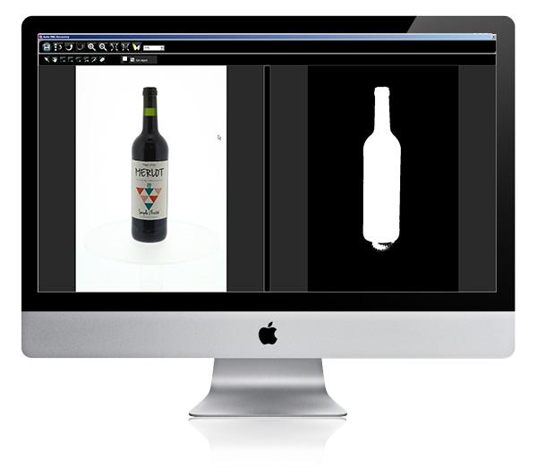 Détourer une bouteille de vin et spiritueux
