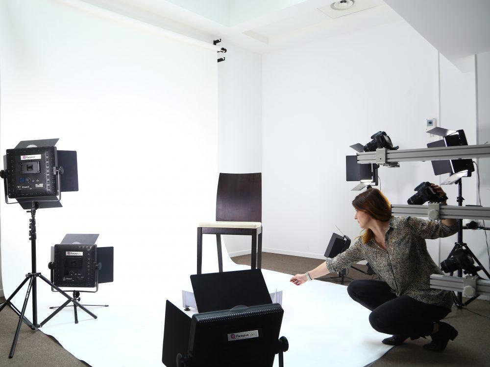 Animations à 360° de meubles en studio packshot