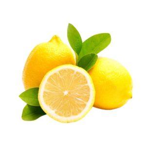 photo de citron pour un site en ligne avec un fond blanc