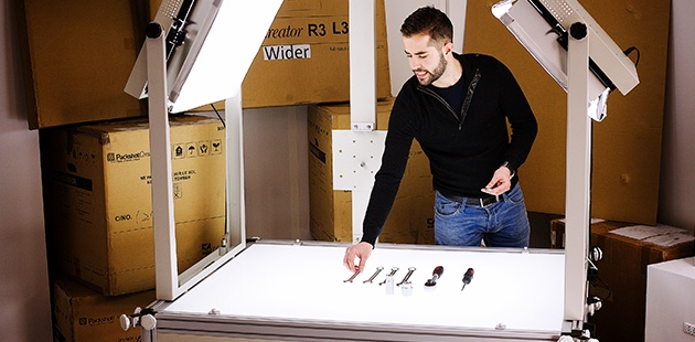 LuminaPad table lumineuse pour packshot