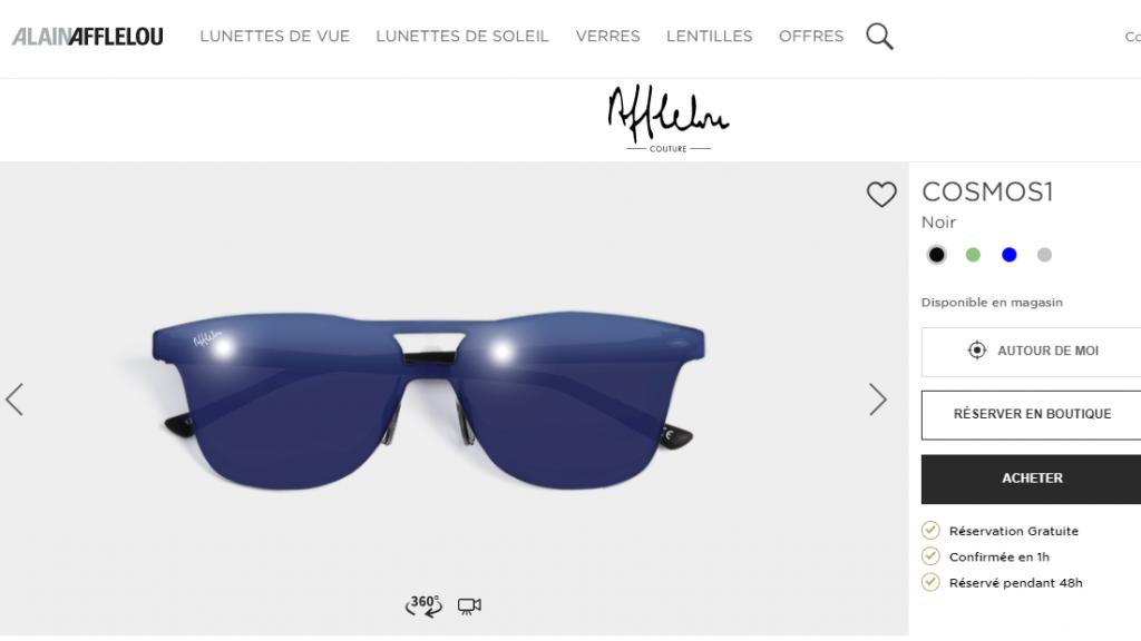 photographie de lunettes pour un site en ligne