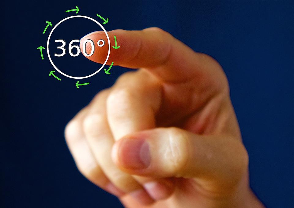 animation d'objet à 360° tactile