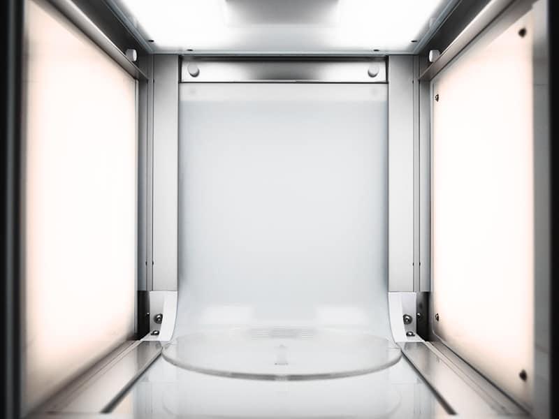 studio photo 360 conçu avec deux températures de couleur différentes pour des produits complexes