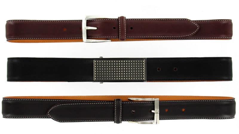 photo à plat d'une ceinture pour magasins en ligne