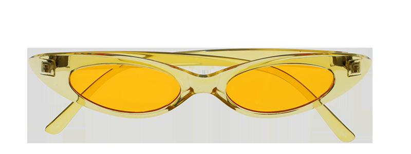 photographier des lunette jaunes avec arrière plan transparent