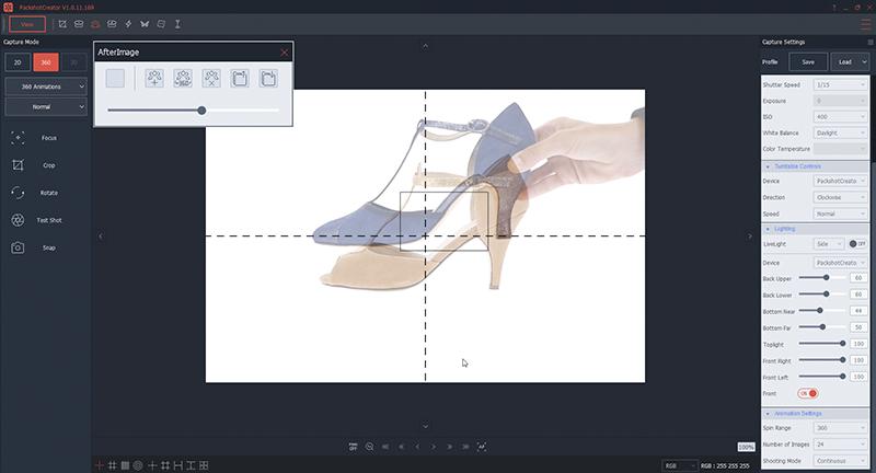 Comment positionner une chaussure pour une animation à 360°