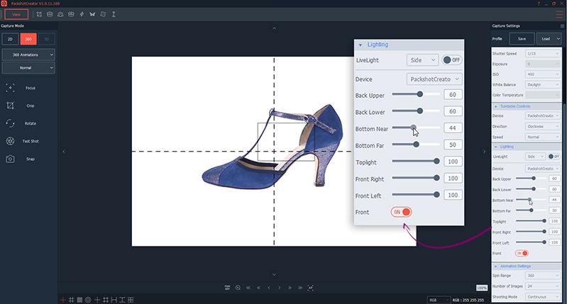 Eclairage LED photographie de chaussures à 360° tutoriel