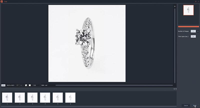 La compilation automatique de vos photographies de bagues