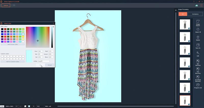 logiciel de photographie 2D de produits par PackshotCreator
