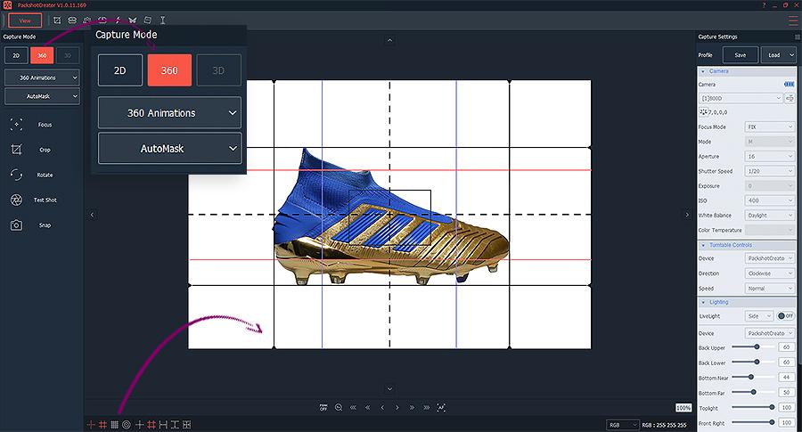animation 360 de chaussures sur fond transparent