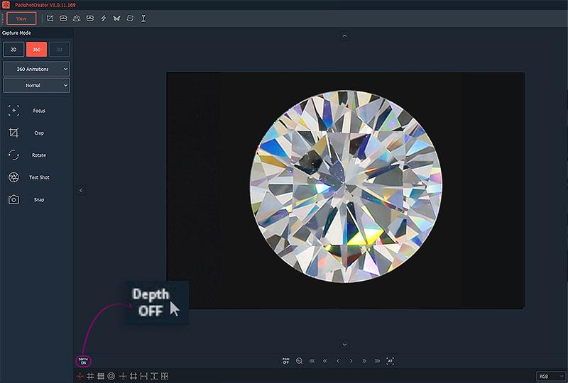 comment faire la mise au point sur un diamant pour la vue du feu