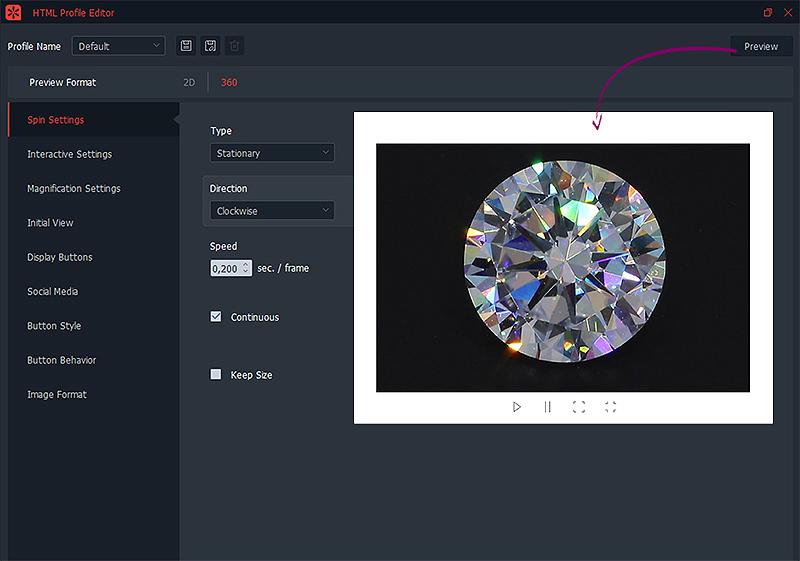 creating a html profile for diamond views