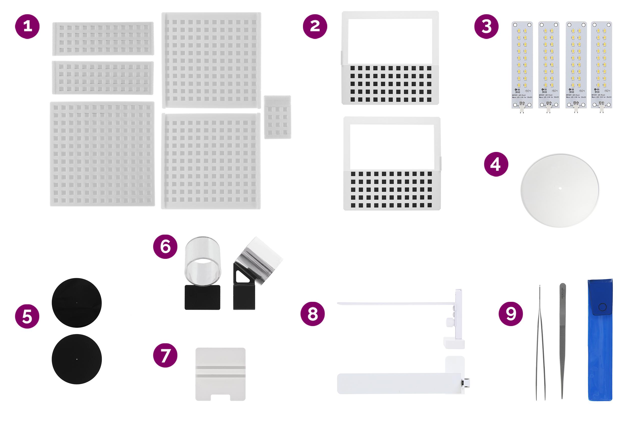 Accessoires nécessaires du Loose Diamond Kit pour créer une animation à 360° de l